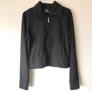 Nike Dri-Fit Cropped Black Zip Jacket Medium